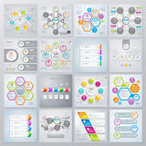 Collection of infographics elements in modern flat business style. Eps 10. Can be used for diagram, banner, number options, workflow layout, step up options vector illustration
