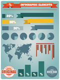 Collection of infographics elements, vector Stock Photography