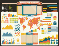 Collection of infographics elements, vector Royalty Free Stock Photography