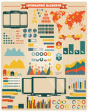 Collection of infographics elements, vector Royalty Free Stock Photos