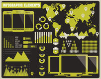 Collection of infographics elements, vector Stock Images