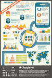 Collection of infographics elements, vector Royalty Free Stock Image