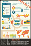 Collection of infographics elements, vector Stock Image