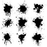 Collection ink splat Royalty Free Stock Photos