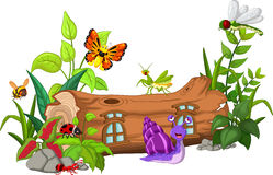 Collection of insects cartoon Stock Images