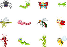 Collection of insects cartoon for you design Royalty Free Stock Images