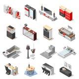 Collection intérieure de pointe de meubles illustration libre de droits