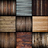 Collection of interesting abstract wood planks Royalty Free Stock Images