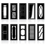 Collection of Interior Door Silhouettes Stock Image