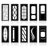 Collection of Interior Doors Royalty Free Stock Photography