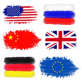 Collection of international flags Royalty Free Stock Photography