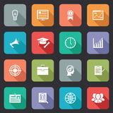 Collection of internet education icons Stock Image