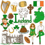 Collection of Irish icons Royalty Free Stock Image