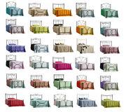 Collection of isolated beds. Collection of isolated different colored beds stock illustration