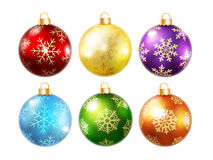 Collection of isolated christmas balls Royalty Free Stock Image