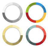 Collection of 4 isolated colorful striped frames Stock Photos