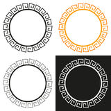 Collection of 4 isolated greek stylized frames Royalty Free Stock Photography