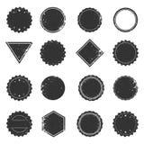 Set of isolated grunge frames, vintage label design elements Stock Photography