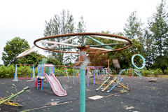 Collection of isolated play equipment Royalty Free Stock Image