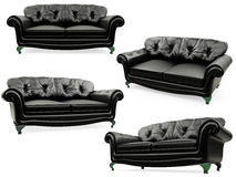 Collection of isolated sofas stock illustration