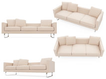 Collection of isolated sofas Stock Images