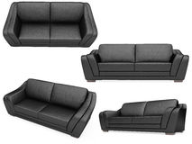 Collection of isolated sofas Royalty Free Stock Images