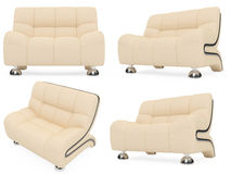 Collection of isolated sofas royalty free illustration