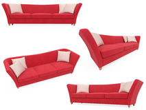 Collection of isolated sofas Stock Photography