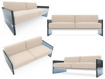 Collection of isolated sofas Royalty Free Stock Photo