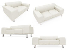 Collection of isolated sofas Royalty Free Stock Photography