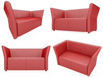 Collection of isolated sofas Royalty Free Stock Photos
