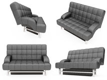 Collection of isolated sofas Stock Photo