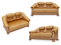 Collection of isolated sofas Stock Image
