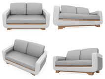 Collection of isolated sofas Royalty Free Stock Image