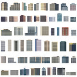 Collection of isolated vector buildings illustration stock illustration