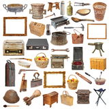Collection of isolated vintage objects Stock Image