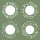 Collection of isolated white napkins. Stylish design. Royalty Free Stock Photo