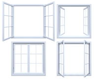 Collection of isolated window frames Royalty Free Stock Images