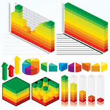 Collection of Isometric Graphs Stock Image