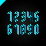 Collection of the isometric sport numbers set. Vector illustration font Royalty Free Stock Photography
