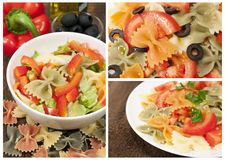 Collection of Italian pasta Stock Image