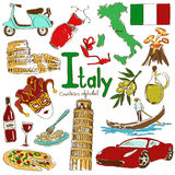 Collection of Italy icons Royalty Free Stock Photography