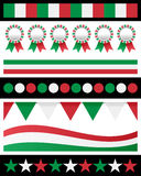 Italy Italian Patriotic Borders. Collection of Italy or italian patriotic borders, useful as design elements or banners. Eps file available Royalty Free Stock Photo