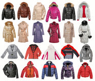 Collection of jacket Royalty Free Stock Image