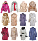 Collection of jacket and coat Stock Image