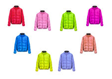 Collection of jackets Royalty Free Stock Image