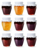 Collection of jam jars Stock Photos