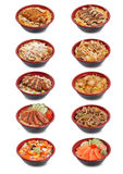 Collection of Japanese donburi Royalty Free Stock Images