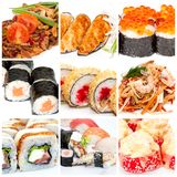 Collection of Japanese food Royalty Free Stock Images