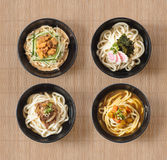 Collection of Japanese Udon Noodles Royalty Free Stock Photo